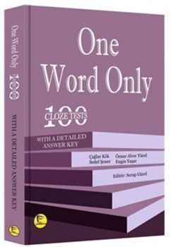 Pelikan Yayınevi One Word Only 100 Cloze Tests