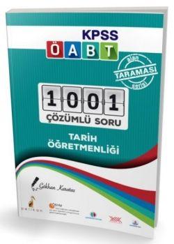 Pelikan Yayınları 2017 ÖABT Tarih Öğretmenliği Alan Taraması Serisi 1001 Çözümlü Soru