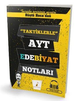 Pelikan Yayınları AYT Rüştü Hocadan Taktiklerle Edebiyat Notları