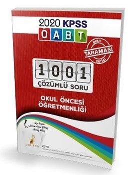 Pelikan Yayınları KPSS ÖABT Okul Öncesi Öğretmenliği 1001 Çözümlü Soru