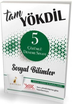 Pelikan Yayınları Tam YÖKDİL Sosyal Bilimler 5 Çözümlü Deneme Sınavı