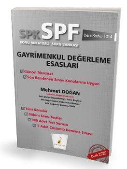 Pelikan Yayınları SPK SPF Gayrimenkul Değerleme Esasları Konu Anlatımlı Soru Bankası 1014