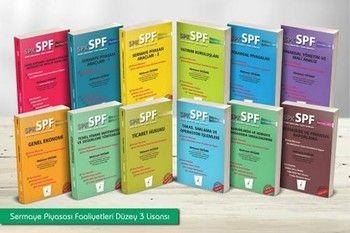 Pelikan Yayınları SPK SPF Sermaye Piyasası Faaliyetleri Düzey 3 Lisansı 12 Kitap