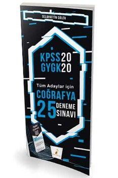 Pelikan Yayınları 2020 KPSS Coğrafya Dijital Çözümlü 25 Deneme Sınavı