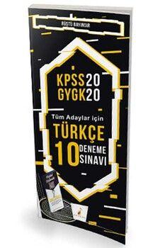 Pelikan Yayınları 2020 KPSS Türkçe Dijital Çözümlü 10 Deneme Sınavı