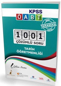 Pelikan Yayınları ÖABT Tarih Öğretmenliği Alan Taraması Serisi 1001 Çözümlü Soru