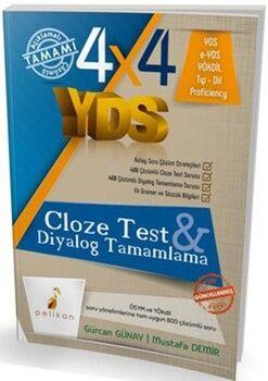 Pelikan Yayınları 4x4 YDS Seti Cloze TestDiyalog Tamamlama3. Kitap