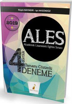 Pelikan Yayınları ALES 4 Dörtlük Tamamı Çözümlü Deneme