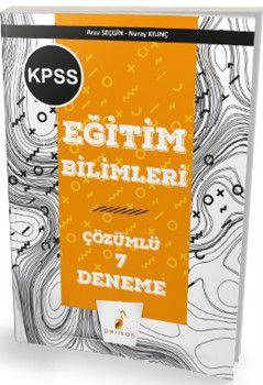 Pelikan Yayınları KPSS Eğitim Bilimleri Çözümlü 7 Deneme