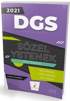 Pelikan Yayınları2021 DGS Sözel Yetenek Son Tekrar Konu Anlatımı