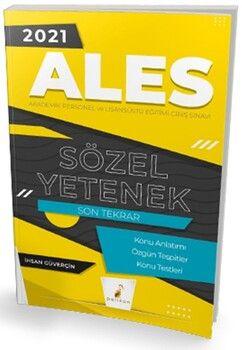 Pelikan Yayınları2021 ALES Sözel Yetenek Son Tekrar Konu Anlatımı