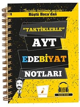 Pelikan YayınlarıAYT Rüştü Hocadan Taktiklerle Edebiyat Notları