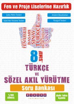 Platon Yayıncılık 8. Sınıf Türkçe ve Sözel Akıl Yürütme Kazanım Ölçer Soru Bankası