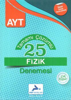 PRF Yayınları AYT Fizik Tamamı Çözümlü 25 Denemesi