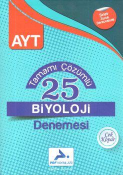 PRF Yayınları AYT Biyoloji Tamamı Çözümlü 25 Denemesi