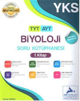 PRF Yayınları TYT AYT Biyoloji Soru Kütüphanesi 1. Kitap