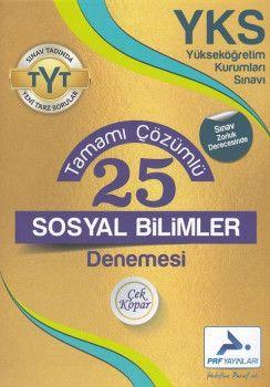 PRF Yayınları TYT Sosyal Bilimler 25 Tamamı Çözümlü Denemesi
