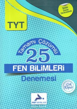 PRF Yayınları TYT Fen Bilimleri Tamamı Çözümlü 25 Denemesi