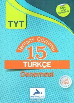PRF Yayınları TYT Türkçe Tamamı Çözümlü 15 Denemesi
