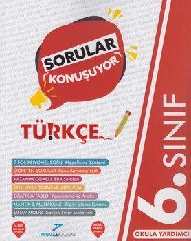Pruva Akademi 6. Sınıf Türkçe Sorular Konuşuyor Soru Bankası