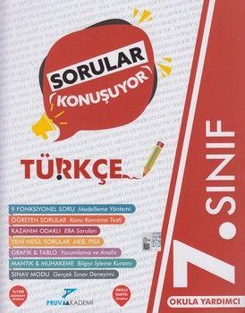 Pruva Akademi 7. Sınıf Türkçe Sorular Konuşuyor Soru Bankası