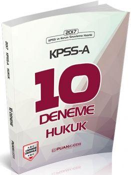 Puan Akademi 2017 KPSS A Hukuk 10 Deneme Tamamı Çözümlü