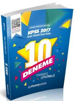 Puan Akademi 2017 KPSS Genel Kültür Genel Yetenek Lisans 10 lu Deneme Tamamı Çözümlü