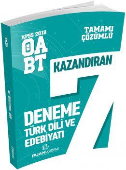 Puan Akademi 2018 ÖABT Türk Dili ve Edebiyatı Öğretmenliği Kazandıran 7 Deneme Sınavı