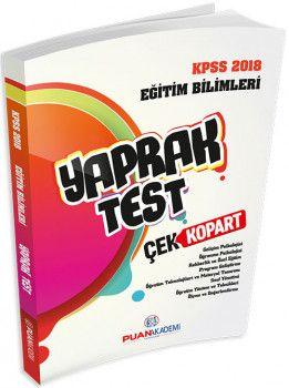 Puan Akademi 2018 KPSS Eğitim Bilimleri Çek Kopart Yaprak Test