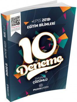 Puan Akademi 2018 KPSS Eğitim Bilimleri Tamamı Çözümlü 10 Deneme