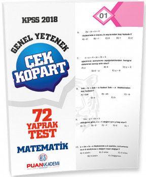 Puan Akademi 2018 KPSS Genel Yetenek Matematik Çek Kopart Yaprak Test