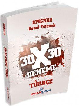 Puan Akademi 2018 KPSS Genel Yetenek 30X30 Türkçe Deneme