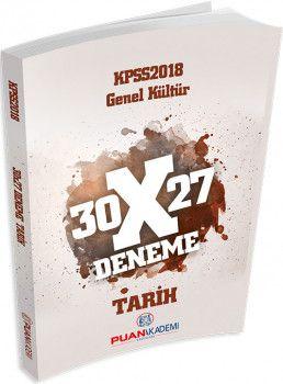 Puan Akademi 2018 KPSS Genel Kültür 30X27 Tarih Deneme