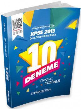 Puan Akademi 2018 KPSS Lisans Genel Yetenek Genel Kültür Tamamı Çözümlü 10 Deneme
