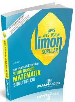 Puan Akademi KPSS ALES DGS ye Matematik Limon Çözümlü Sorular