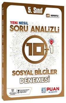 Puan Yayınları 5. Sınıf Sosyal Bilgiler Soru Analizli 10+1 Deneme
