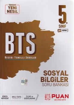 Puan Yayınları 5. Sınıf Sosyal Bilgiler BTS Beceri Temelli Soru Bankası