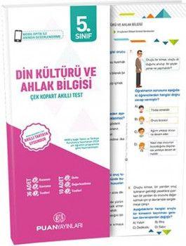 Puan Yayınları 5. Sınıf Din Kültürü ve Ahlak Bilgisi Çek Kopart Akıllı Test