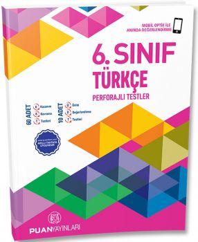 Puan Yayınları 6. Sınıf Türkçe Perforajlı Testler