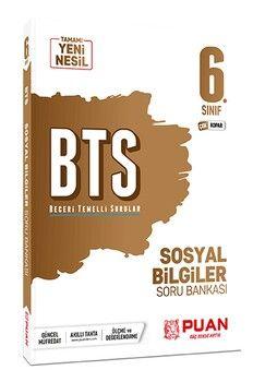 Puan Yayınları 6. Sınıf Sosyal Bilgiler BTS Beceri Temelli Soru Bankası