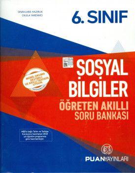 Puan Yayınları 6. Sınıf Sosyal Bilgiler Öğreten Akıllı Soru Bankası