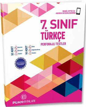 Puan Yayınları 7. Sınıf Türkçe Perforajlı Testler