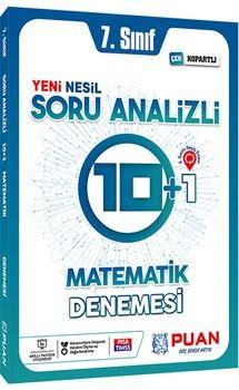 Puan Yayınları 7. Sınıf Matematik Soru Analizli 10+1 Deneme