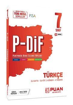 Puan Yayınları 7. Sınıf Türkçe PDİF Konu Anlatım Föyleri