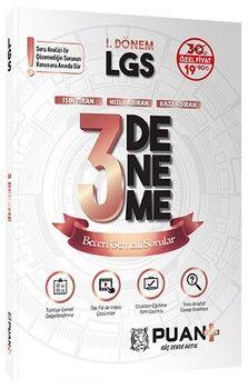 Puan Yayınları 8. Sınıf 1. Dönem LGS 3 Deneme