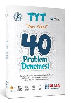 Puan Yayınları TYT Yeni Nesil Problem 40 Denemesi