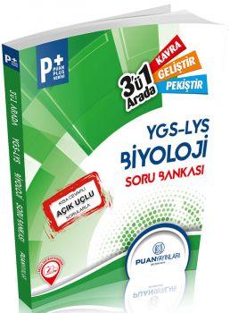 Puan Yayınları YGS LYS Biyoloji Üçü Bir Arada Soru Bankası Puan Plus Serisi