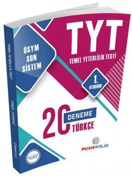 Puan Yayınları YKS 1. Oturum TYT Türkçe 20 Deneme