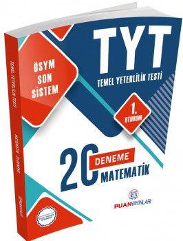 Puan Yayınları YKS 1. Oturum TYT Matematik 20 Deneme
