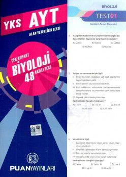 Puan Yayınları YKS 2. Oturum AYT Biyoloji Çek Kopart 48 Akıllı Test